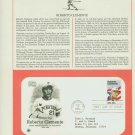 1984 USA FDC Sc# 2097 – Aug 17 – Honoring Roberto Clemente on Cachet Addressed Cover E4859P