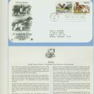 1984 USA FDC Scott# 2098-99 – Sep 7 – A Salute to Dogs on Cachet Addressed Cover E4859P