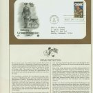 1984 USA FDC Scott# 2102 – Sep 26 – Saluting Crime Prevention on Cachet Addressed Cover E4859P