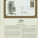 1984 USA FDC Scott# 2102 – Sep 26 – Saluting Crime Prevention on Cachet Addressed Cover E4859P