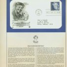 1984 USA FDC Scott# 2105 – Oct 11 – Honoring Eleanor Roosevelt on Cachet Addressed Cover E4859P