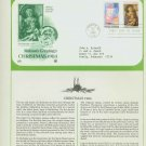 1984 USA FDC Scott# 2107-8 – Oct 30 – 1984 Christmas 2 Stamps on Cachet Addressed Cover E4859P
