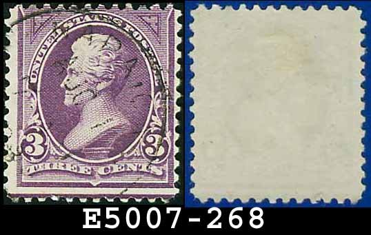 1895 USA USED Scott# 268 � 3c Jackson - 1895 Bureau Issues