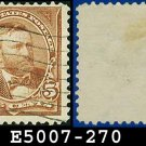 1895 USA USED Scott# 270 – 5c Grant - 1895 Bureau Issues