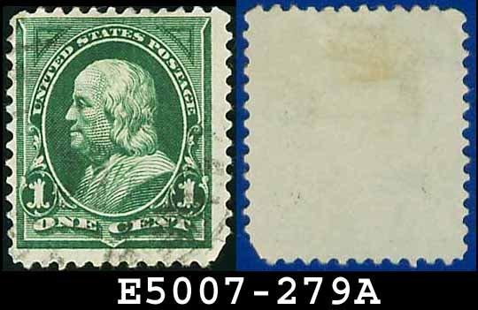 1898 USA USED Scott# 279 � 1c Green Franklin - 1898 Regular Issue