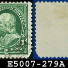 1898 USA USED Scott# 279 – 1c Green Franklin - 1898 Regular Issue