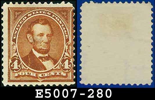 1898 USA UNUSED Scott# 280 � 4c Lincoln - 1898 Regular Issue