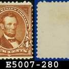 1898 USA UNUSED Scott# 280 – 4c Lincoln - 1898 Regular Issue