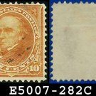 1898 USA USED Scott# 282C – 10c Webster Type I - 1898 Regular Issue