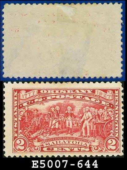 1927 USA UNUSED Scott# 644 - 2c Surrender of Burgoyne - 1927 Commemoratives
