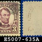 1926-28 USA USED Scott# 635 - 3c Violet Lincoln - 1926-28 Regular Issue