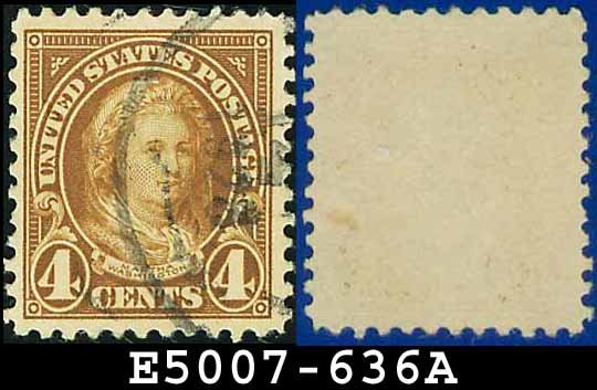 1926-28 USA USED Scott# 636 - 4c Martha Washington - 1926-28 Regular Issue