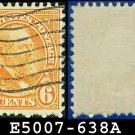 1926-28 USA USED Scott# 638 - 6c Garfield - 1926-28 Regular Issue