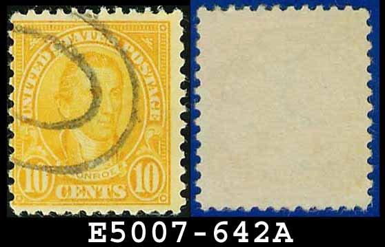 1926-28 USA USED Scott# 642 - 10c Monroe - 1926-28 Regular Issue