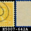 1926-28 USA USED Scott# 642 - 10c Monroe - 1926-28 Regular Issue