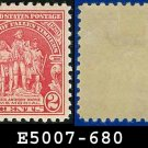 1929 USA UNUSED Scott# 680 – 2c Wayne Memorial – 1929 Commemoratives