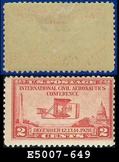1928 USA UNUSED Sc# 649 � 2c Wright Airplane � International Civil Aeronautics Conference Issue