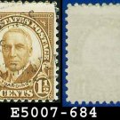 1930 USA USED Scott# 684 – 1 1/2c Harding Brown – 1930  Regular Issue
