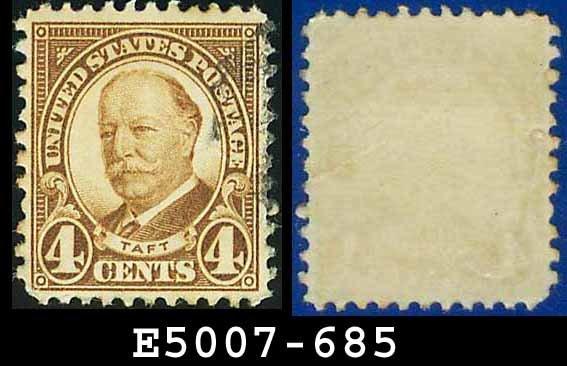 1930 USA USED Scott# 685 � 4c Taft Brown � 1930  Regular Issue