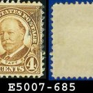 1930 USA USED Scott# 685 – 4c Taft Brown – 1930  Regular Issue