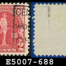 1930-31 USA USED Scott# 688 – 2c Washington – Battle of Bradddock Field