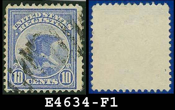 1911 USA USED F1 � 10c Blue Eagle Registration Stamp