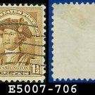 1932 USA USED Scott# 706 – 1 1/2c Washington – 1932 Washington Bicentennial Issue