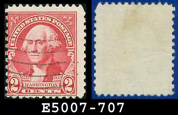 1932 USA USED Scott# 707 � 2c Washington � 1932 Washington Bicentennial Issue