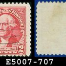 1932 USA USED Scott# 707 – 2c Washington – 1932 Washington Bicentennial Issue