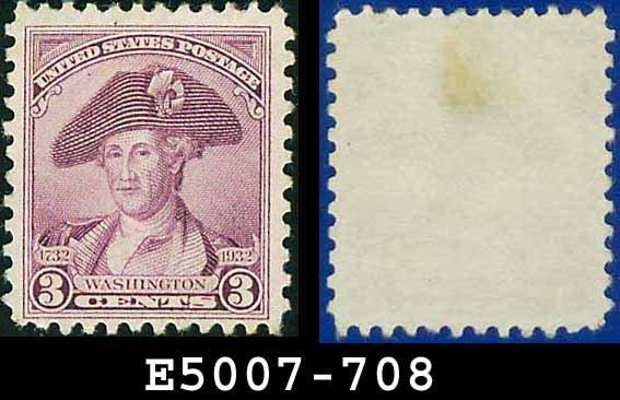 1932 USA USED Scott# 708 � 3c Washington � 1932 Washington Bicentennial Issue