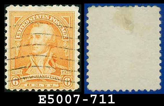 1932 USA USED Scott# 711 � 6c Washington � 1932 Washington Bicentennial Issue