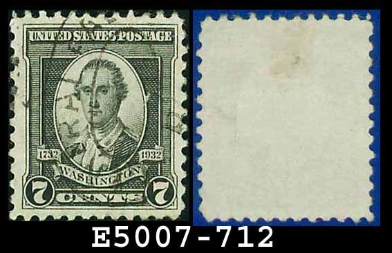 1932 USA USED Scott# 712 � 7c Washington � 1932 Washington Bicentennial Issue
