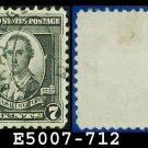 1932 USA USED Scott# 712 – 7c Washington – 1932 Washington Bicentennial Issue