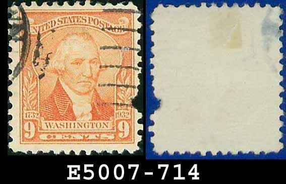1932 USA USED Scott# 714 � 9c Washington � 1932 Washington Bicentennial Issue