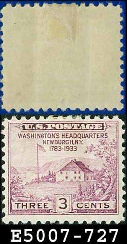 1933 USA UNUSED Scott# 727 � 3c Washington Headquarters � 1933 Commemoratives