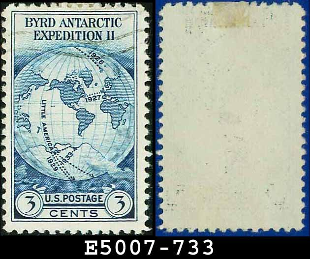 1933 USA USED Scott# 733 � 3c Byrd Expedition � 1933 Commemoratives
