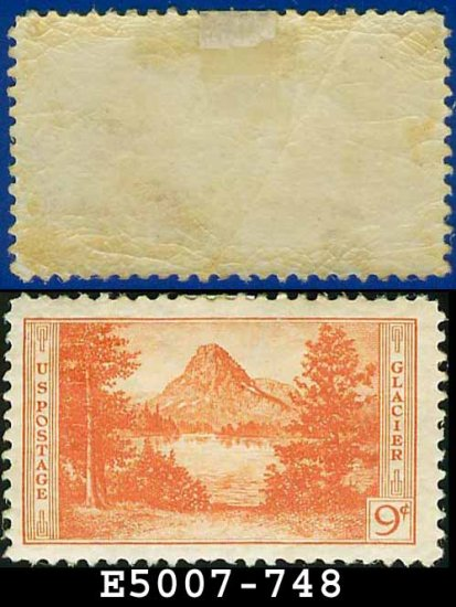 1934 USA UNUSED Scott# 748 � 9c Glacier � 1934 National Parks Issue