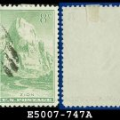 1934 USA USED Scott# 747 – 8c Zion, Utah – 1934 National Parks Issue