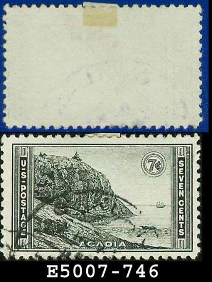 1934 USA USED Scott# 746 � 7c Acadia, Maine � 1934 National Parks Issue