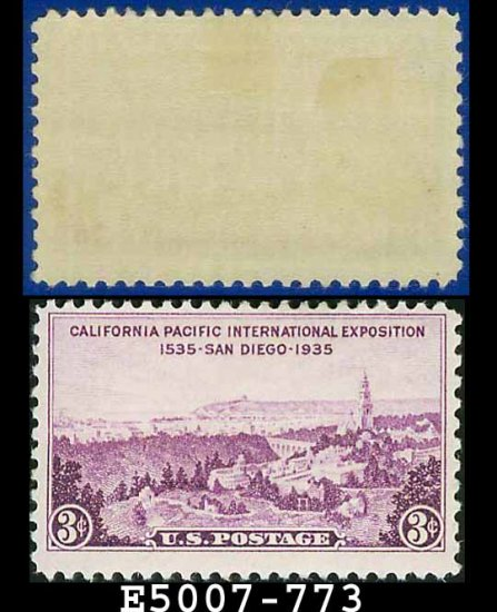 1935 USA USED Scott# 773 � 3c View of San Diego Expo � 1935 Commemoratives