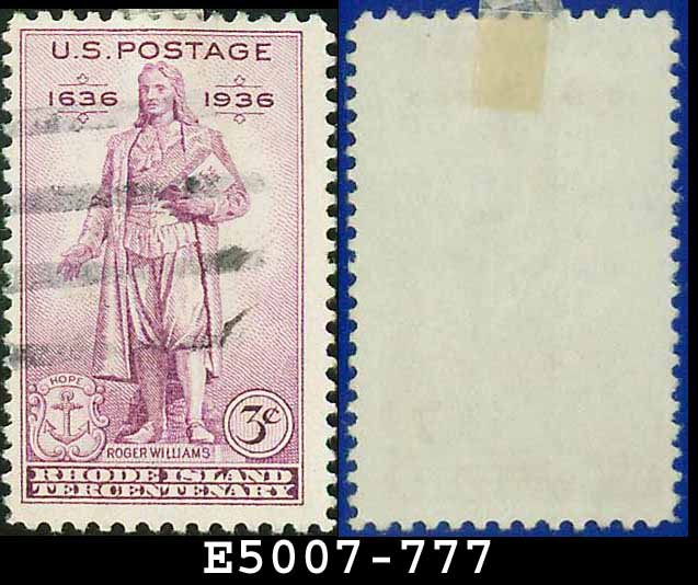 1935 USA USED Scott# 777 � 3c Statue of Roger Williams � 1935 Commemoratives