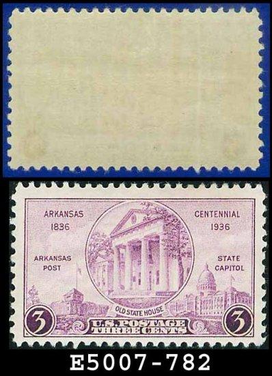 1935 USA UNUSED Scott# 782 � 3c Arkansas State House � 1935 Commemoratives