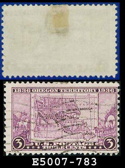 1936 USA USED Scott# 783 � 3c Map of Oregon Territory � 1936 Commemoratives