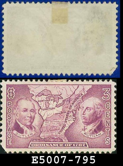 1937 USA UNUSED Scott# 795 � 3c Northwest Territory � 1937 Commemoratives