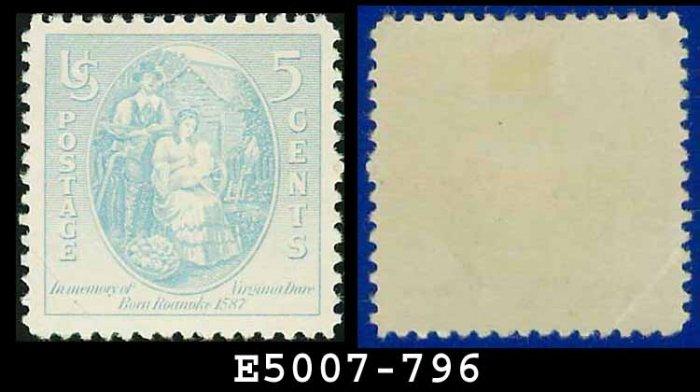 1937 USA UNUSED Scott# 796 � 5c Virginia Dare � 1937 Commemoratives