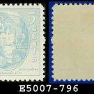 1937 USA UNUSED Scott# 796 – 5c Virginia Dare – 1937 Commemoratives