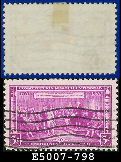 1937 USA USED Scott# 798 � 3c Adoption of the Constitution � 1937 Commemoratives