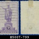 1937 USA USED Sc# 799 – 3c Statue of Kamehameha I Hawaii – 1937 Commemoratives