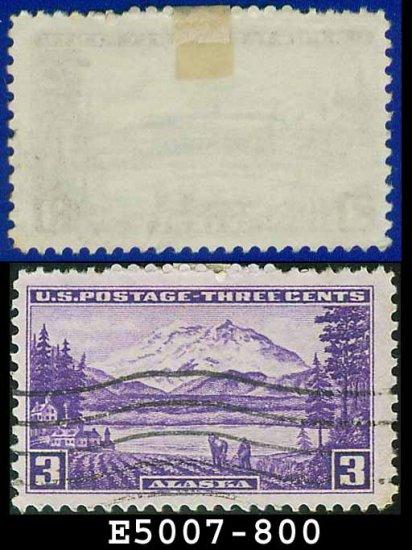 1937 USA USED Scott# 800 � 3c Mt. McKinley, Alaska � 1937 Commemoratives