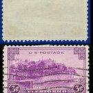 1937 USA USED Scott# 801 – 3c La Fortaleza – 1937 Commemoratives